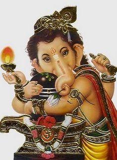 Ganesha hugging Shiva lingam