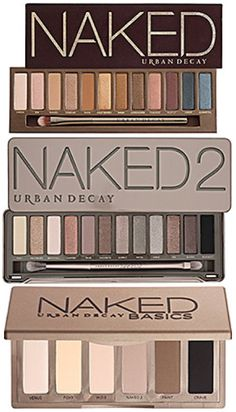 Urban Decay Naked Palettes... for more like this check out TheDanceGrad.com