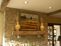 fake mantles | Fireplace Mantels with Painting1 How to Accessorize Fireplace Mantels ...