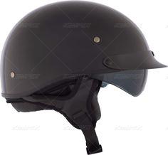Shade Tree   Half Helmets > Revolt RSV Half Helmet   Graphic: Solid   Color: Black   Lens: No Lens Available   Sunvisor Color: Smoke   Size: L   Seaso