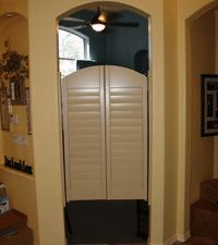 Saloon Doors - to separate mudroom hall from kitchen? If lower to floor it would work for cat access to litter boxes. | Saloon Doors | Pinterest | Litter ... & Saloon Doors - to separate mudroom hall from kitchen? If lower to ... Pezcame.Com