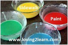 Sidewalk Paint  www.loving2learn.com