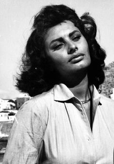 "misssophialorens: ""Sophia Loren photographed on the set of Boy On A Dolphin (1957) """