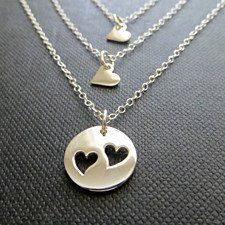 Buy Personalized State to State Handmade Charm Necklace by Pure Impressions on OpenSky