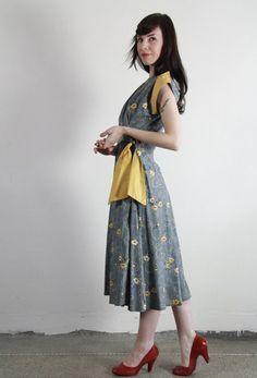 1940s Wrap Dress Vintage at VeraVague.etsy.com