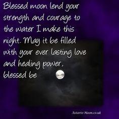 Making healing protective full moon water - Astarte Moon Pagan Goddess Spiritual Inspiration