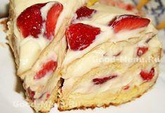 Клубничный торт с заварным кремом - рецепт