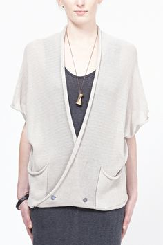 Knit Silk Vest by Boessert Schorn