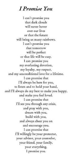 I promise you  love quotes life quotes quotes quote promise