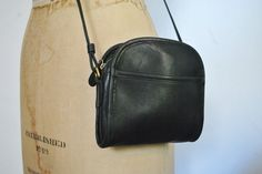 ABBIE Coach Black Purse / small leather bag by badbabyvintage on Etsy