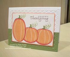 Thanksgiving Pumpkins by LaLatty - Cards and Paper Crafts at Splitcoaststampers