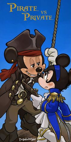 OH MY MICKEY PIRATE!!!!!!! <3 I love Mickey :) He is my favorite! So are pirates! Can I have this framed and put in my house?! <3