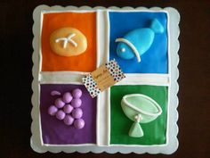 Pastel de Chocolate Decorado con Fondant