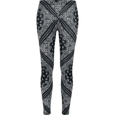 Ladies Bandana Leggings - Leggings by Urban Classics Bandana, Pajama Pants, Leggings, Urban, Lady, Classic, Darkness, Clothes, Shoes
