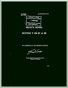 Hawker Hunter T Mk.8C 8B Aircraft Pilot's Notes Manual - Aircraft Reports - Manuals Aircraft Helicopter Engines Propellers Blueprints Publications