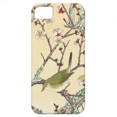Jo Bird on Plum Branch shin hanga japanese art iPhone 5 Case by TheGreatestTattooArt
