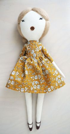Clementine Doll by lespetitemainss on Etsy