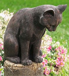 Bon Bronze Colored Cat And Mouse Sculpture Made Of Weatherproof Resin Outdoor  Garden Decor, Outdoor