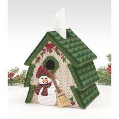 Mary Maxim - Tree Tissue Box Cover Plastic Canvas Kit - Grab a tissue using this unique holiday tissue box cover.