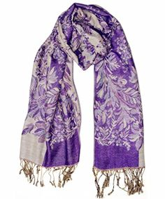 Reversible Paisley Pashmina and Silky Shawl Beach Wrap Women Scarf (Purple). Size and Weight:180*70 CM/70.8*27.5 IN,190 G/6.7 OZ.Pattern Style:Paisley. It is silky and skin-friendly,soft and light weight,wrinkle-free and opaque,very cozy for clothes decoration. Wash Way:It is better to wash the scarf by hand lightly and hang it dry,or dry cleaning.Do not wash it by washing machine. Package:1 item.Arrive:7-15days from us,3-5days from Amazon's storehouse. CS&BEAUTY is a registered trademark in…