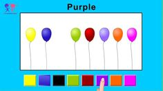 Colors for Children to Learn With Balloons