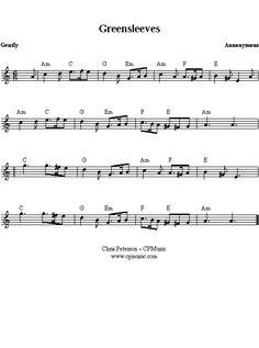 Greensleeves pianosheet en nog veel meer...