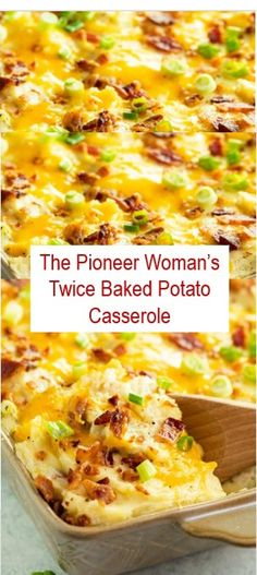 Here's The Pioneer Woman's Twice Baked Potato Casserole Recipe. This Recipe is favorite and easy to make it, delicious and healthy. ThePioneerWoman's Twice Baked Potato Casserole Recipe ThePioneerWoman'sTwiceBakedPotatoCasserole 402157441726929837 Easy Twice Baked Potatoes, Twice Baked Potatoes Casserole, Potatoe Casserole Recipes, Casserole Dishes, Cheesy Potatoes, Breakfast Casserole, Loaded Potato Casserole, Party Potatoes, Vegetable Casserole