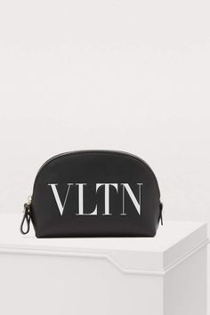 Buy Valentino Valentino Garavani small makeup bag online on 24 Sèvres. Shop the latest trends - Express delivery & free returns Valentino Clothing, Valentino Bags, Valentino Garavani, Calf Leather, Black Leather, Small Makeup Bag, Makeup Bags, Fashion Bags, Womens Fashion