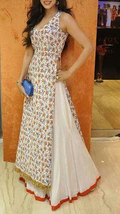 Cream stylish dress