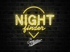 """Love the glow of course. Also the """"Miller"""" underneath seems to be painted on the brick wall. Cool effect."""