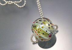 Melanie Moertel Lampwork Beads  Light green by melaniemoertel, $170.00
