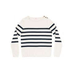 Boat sweater with nevy-blue stripes SUN68 Woman SS15 #SUN68 #SS15 #woman #sweater #stripes