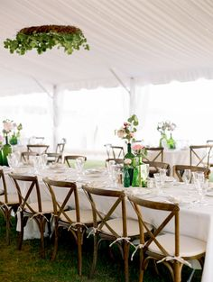 #tablescapes, #chair, #tablescape  Photography: Ruth Eileen Photography - rutheileenphotography.com Ceremony Venue: St. Thomas Episcopal Church - www.stthomascamdenme.org/ Reception Venue: Camden Yacht Club - camdenyachtclub.org/ Floral Design: Trader Joes - traderjoes.com Floral Design: Fifty Flowers - fiftyflowers.com