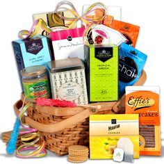 tea cookies gift basket classic by gourmetgiftbasketscom