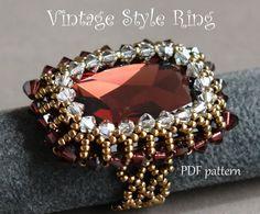 Beaded Ring Tutorial  Vintage Style Ring  par MilleGioiediSidonia, €6.50