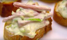Salades zijn onmisbaar bij de borrel of barbecue. Deze frisse ham-preisalade roept meteen een zomers gevoel op. Je maakt hem binnen... Ciabatta, Quesadilla, Tostadas, Summer Recipes, Baked Potato, Barbecue, Ham, Sushi, Sandwiches