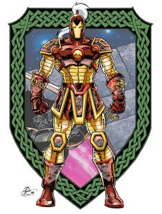 "Iron Man Medieval Knight Armor from ""Iron Man: Doomquest. Medieval Knight Armor, Medieval Art, Iron Man Armor, Iron Man Suit, Iron Avenger, Empire Characters, Marvel Comics Superheroes, Man Thing Marvel, Spiderman Art"