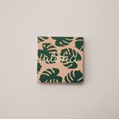 Aloha Monstera Mini Canvas Painting with Mini Easel palm