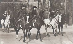 The Germany Royal Family out riding