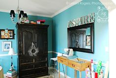 craft room designs layouts | My Many Colored Days: From dining room to design room, a makeover!