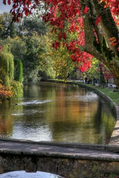 Bourton-On-The-Water, Cotswold's, England. This village looks like a Thomas Kinkade painting.