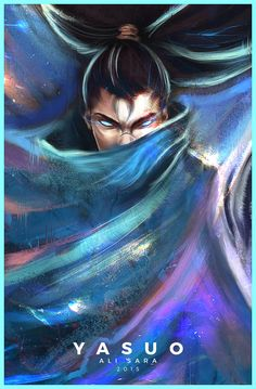 Really neat Yasuo Painting (x-post: /r/leagueoflegends) - Imgur
