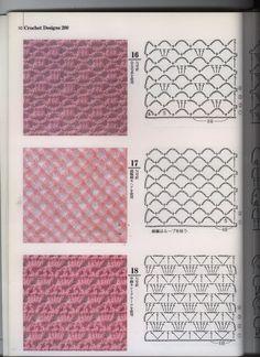Trendy Crochet Paso A Paso Puntadas Ideas Crochet Stitches Chart, Granny Square Crochet Pattern, Crochet Diagram, Crochet Motif, Diy Crochet, Crochet Designs, Stitch Patterns, Knitting Patterns, Crochet Patterns