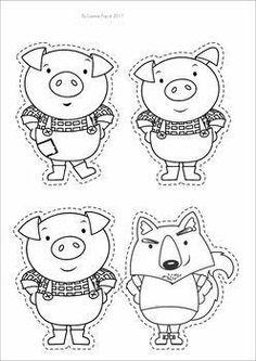 3 Little Pigs Activities, Book Activities, Preschool Activities, Three Little Pigs Houses, Three Little Pigs Story, Nursery Rhyme Crafts, Nursery Rhymes, Pig Crafts, Pig Character