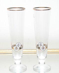Warsteiner 0.4 Liter German Gold Rim Footed Pilsener Beer Glass in Collectibles, Breweriana, Beer, Drinkware, Steins | eBay #pilsner #beerglass #germanbeer #beerstein #kraftbeer #beer