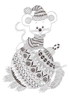 Zentangle made by Mariska den Boer 76 #Zentangle #Christmas #Zentangle Patterns
