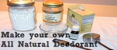 Make your own deoderant
