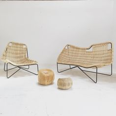 Outdoor rattan furniture by Benedetta Tagliabue.