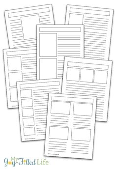 Over 25 FREE blank notebooking pages! Use for any topic or subject! Vocabulary Notebook, Note Taking Strategies, Book Labels, My Father's World, Journal Template, Writing Workshop, Study Notes, Journal Entries, Study Tips