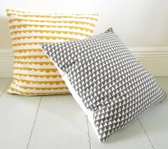 Steps In Charcoal, Handmade Feather Cushion